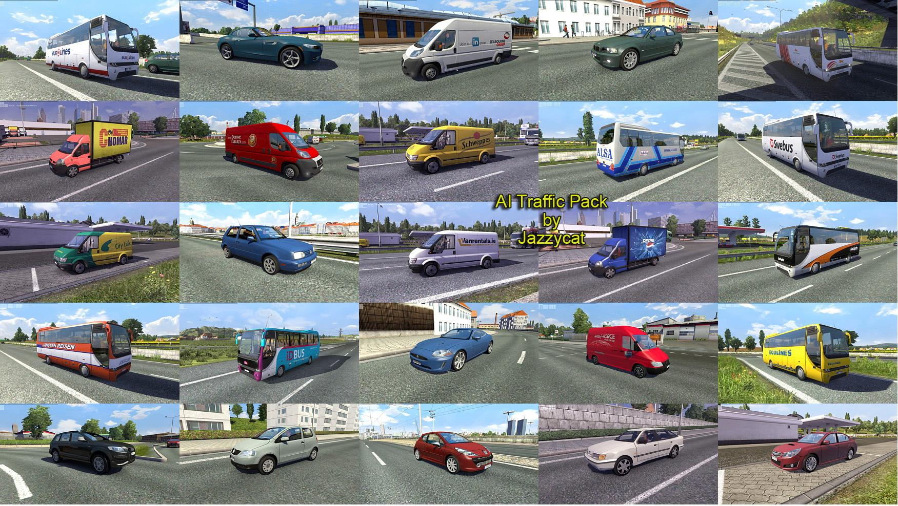 Ai Traffic Pack By Jazzycat V1 8 Euro Truck Simulator 2 Mods