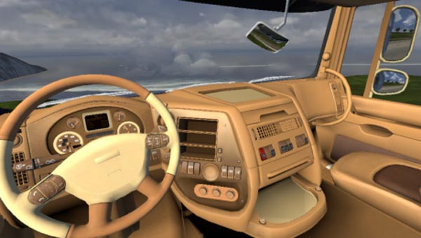 DAF XF Leather Interior -Euro Truck Simulator 2 Mods