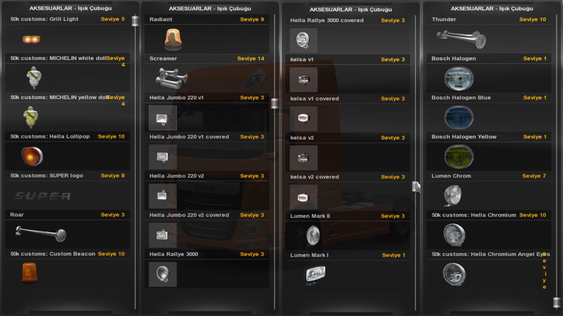 Accessory Parts Euro Truck Simulator 2 Mods