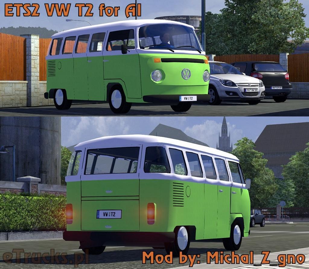 vw t2 ai v1.12.1 -euro truck simulator 2 mods