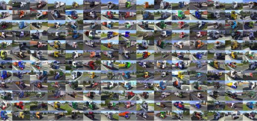 PAINTED TRUCK TRAFFIC PACK BY JAZZYCAT V1 4 MOD (2)