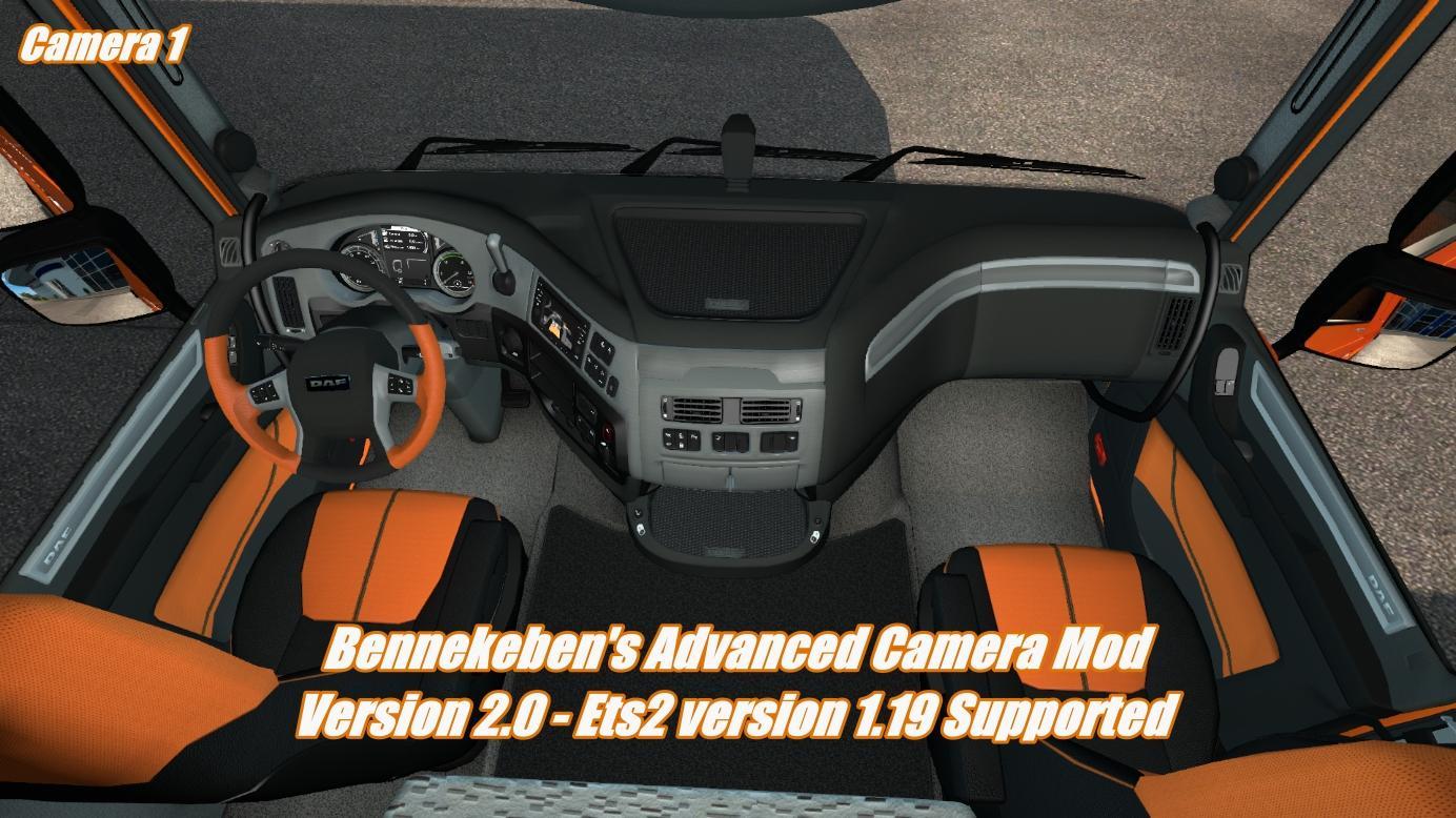 BENNEKEBEN'S ADVANCED CAMERA MOD V2 V1 19 ETS2 -Euro Truck