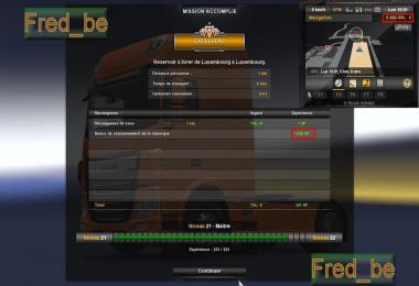 FAST LEVEL+MORE XP+MORE MONEY 1 19 X ETS2 -Euro Truck