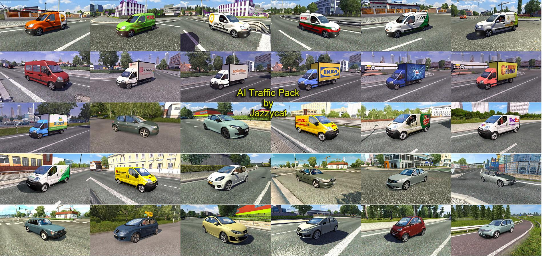 Ai Traffic Pack By Jazzycat V2 9 Ets 2 Euro Truck Simulator 2 Mods