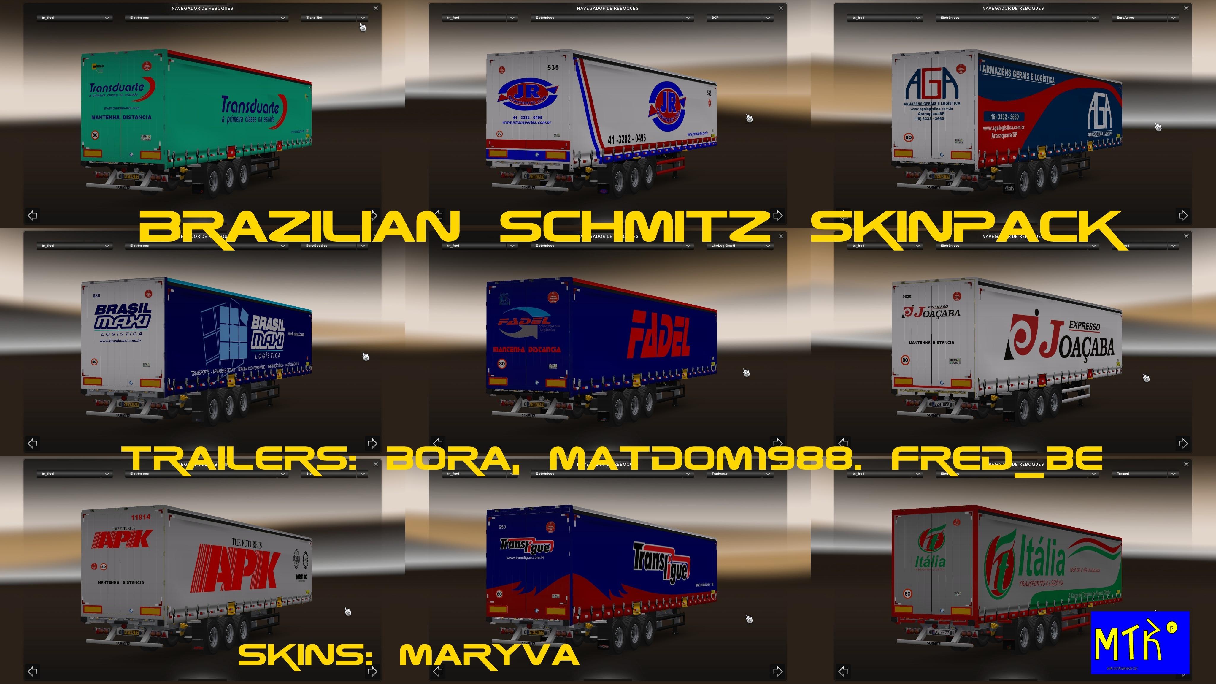 BRAZILIAN SCHUMITZ SKINPACK For ETS 2 -Euro Truck