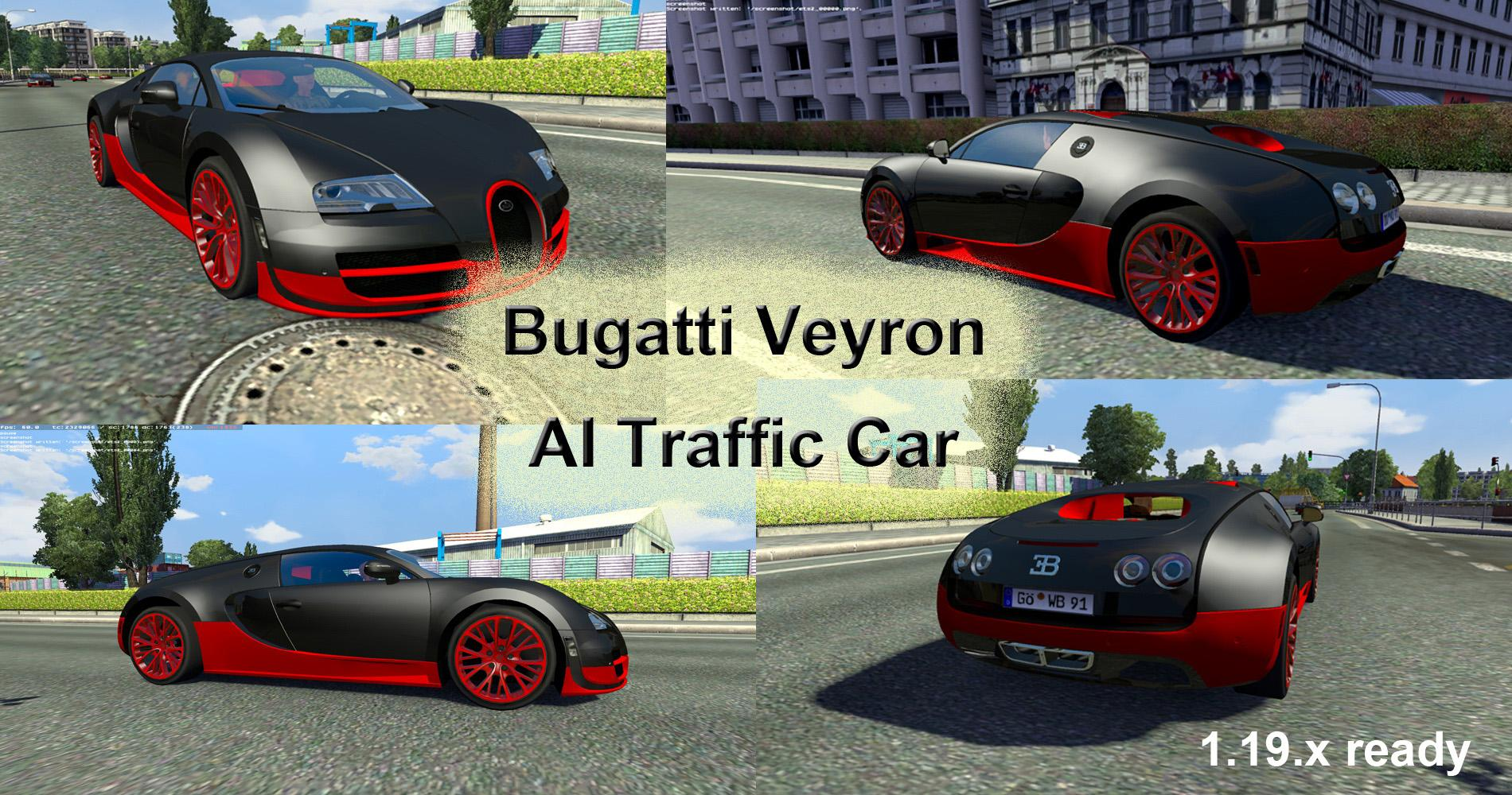 Bugatti Veyron Ai Traffic Car For 1 19 X Ets 2 Euro Truck Simulator