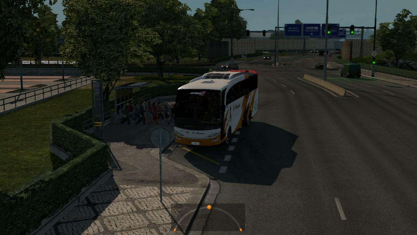 BUS PASSENGER TRANSPORT AND TERMINAL MODE V2 1 19 ETS 2 -Euro Truck