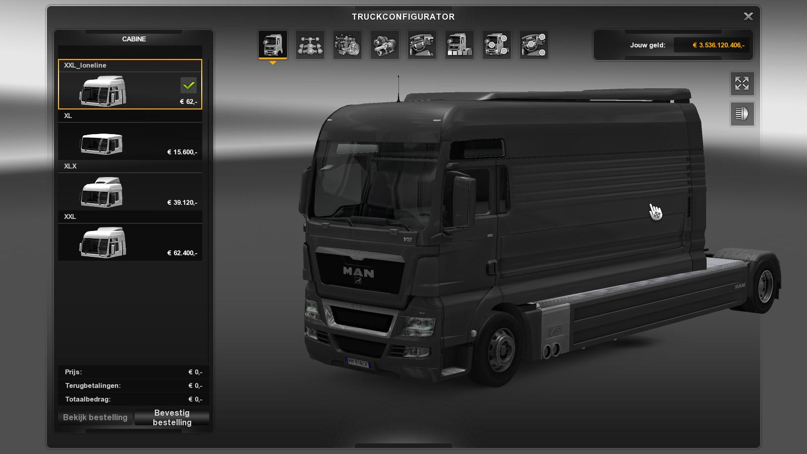 MAN LONELINE SMALL UPDATED INTERIOR Truck -Euro Truck Simulator 2 Mods