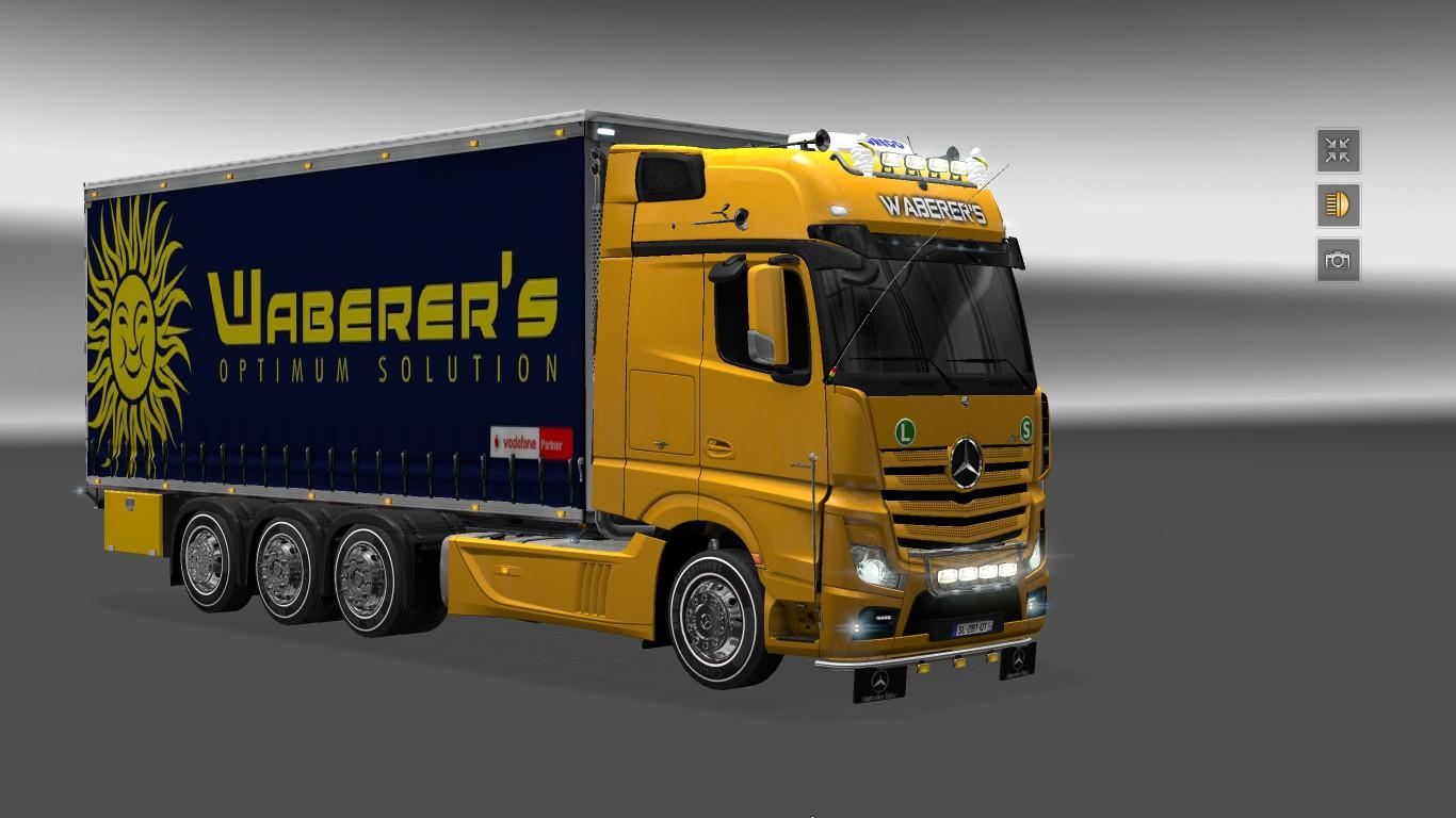 mercedes actros 2014 tandem v2 truck euro truck. Black Bedroom Furniture Sets. Home Design Ideas