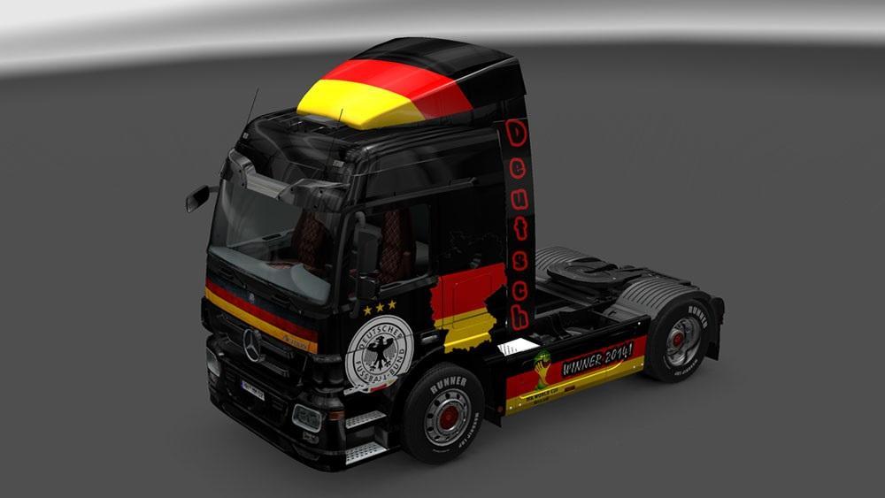 MERCEDES BENZ GERMANY SQUAD SKIN Mod -Euro Truck Simulator 2 Mods