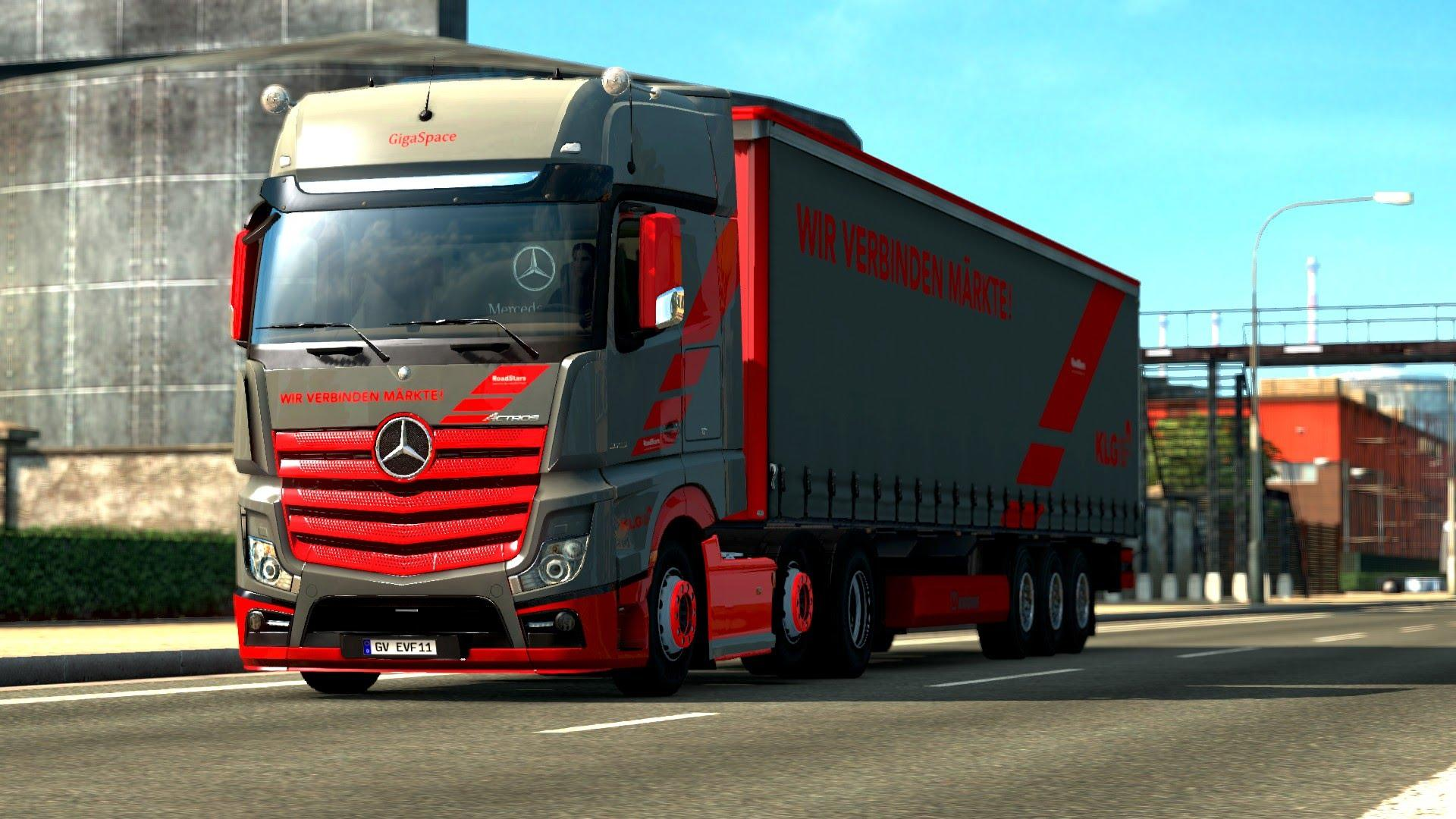 mercedes benz new actros loud pipe sound ets 2 -euro truck