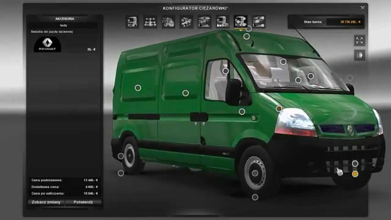 RENAULT MASTER FURGON L2H2 Bus -Euro Truck Simulator 2 Mods