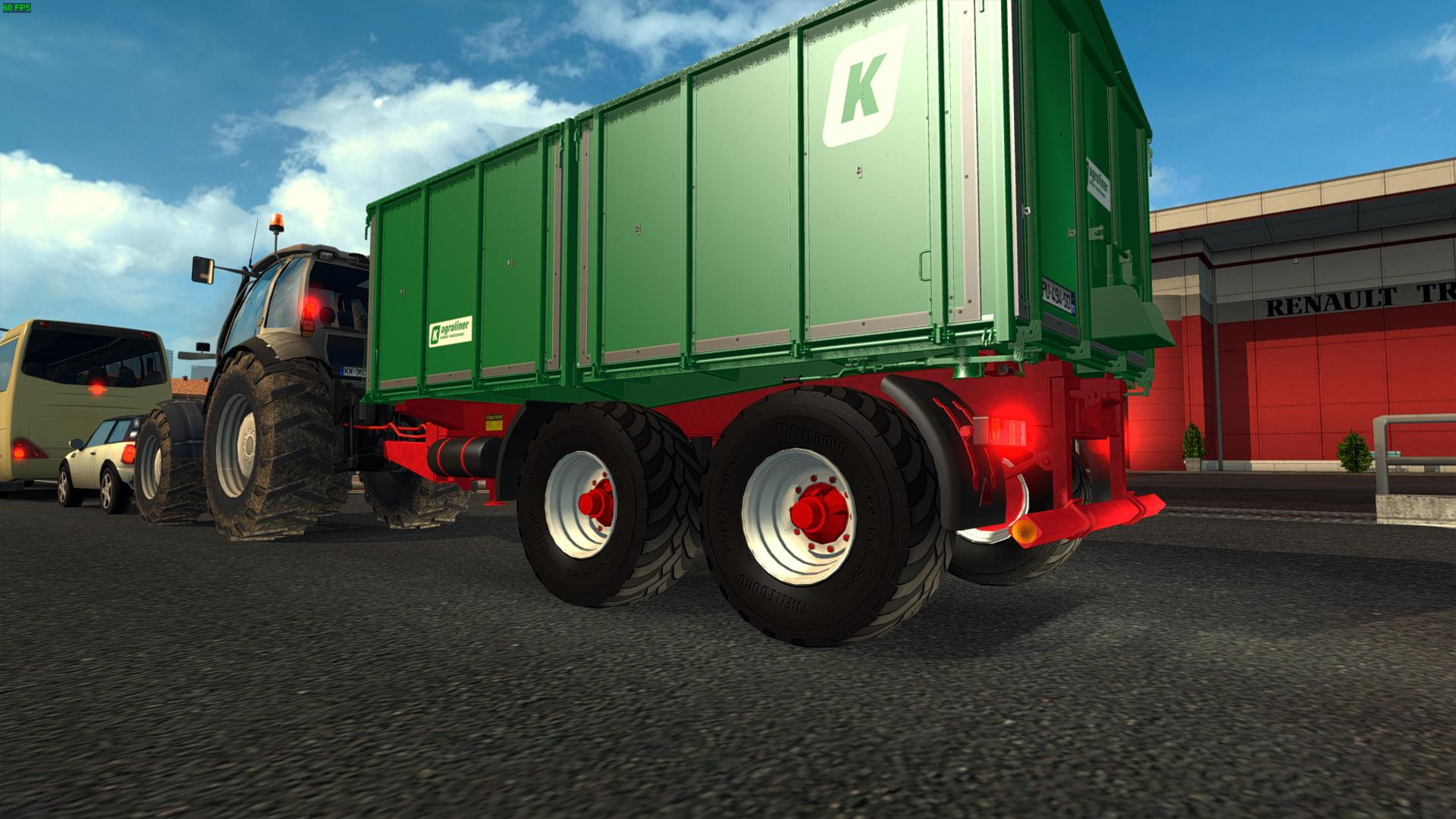 Tractor Simulator 2 : Tractor and trailers in traffic mod euro truck simulator