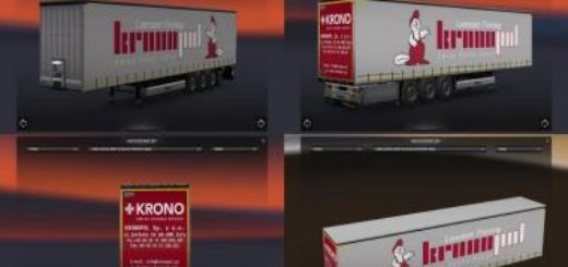 trailer pack by fred be v6   300 skins ets2  euro truck simulator 2 mods
