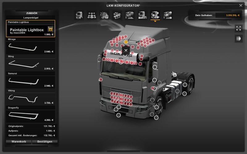 Parts For Cars >> ALLROUND LIGHTBOX V1.0 ETS 2 -Euro Truck Simulator 2 Mods