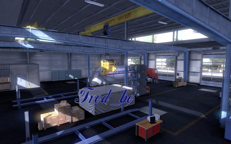 Big garage renault mod euro truck simulator 2 mods for Credit garage renault
