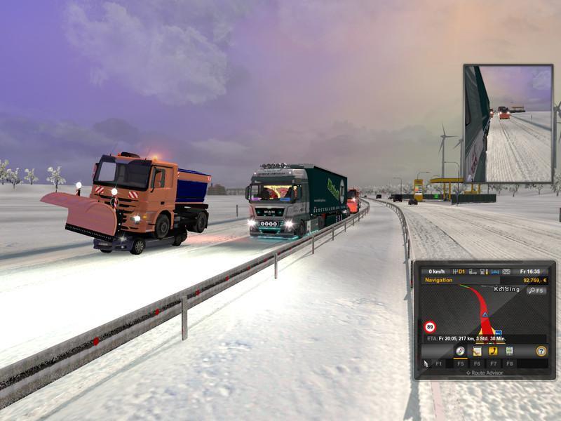 скачать мод для euro truck simulator 2 на снег
