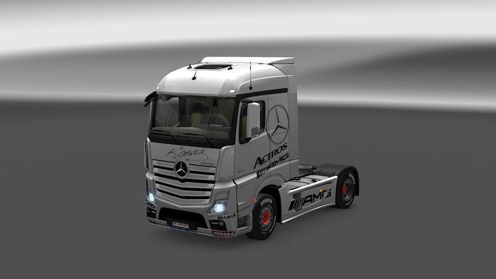 Mercedes Benz Actros Mp4 Amg Skin Mod Euro Truck