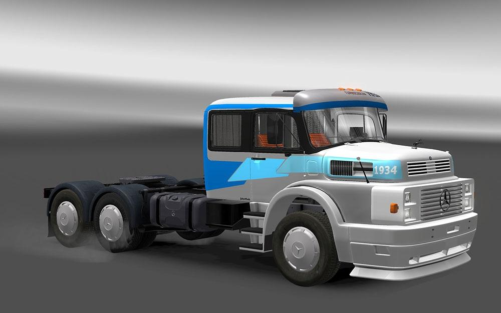 Mercedes benz ls 1934 truck euro truck simulator 2 mods for Mercedes benz truck pictures