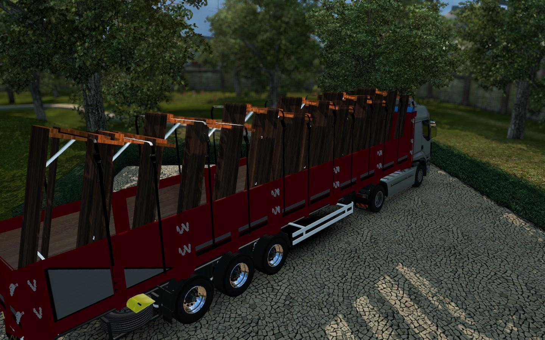 PICNIC TABLE TRAILER X Mod Euro Truck Simulator Mods - Picnic table trailer