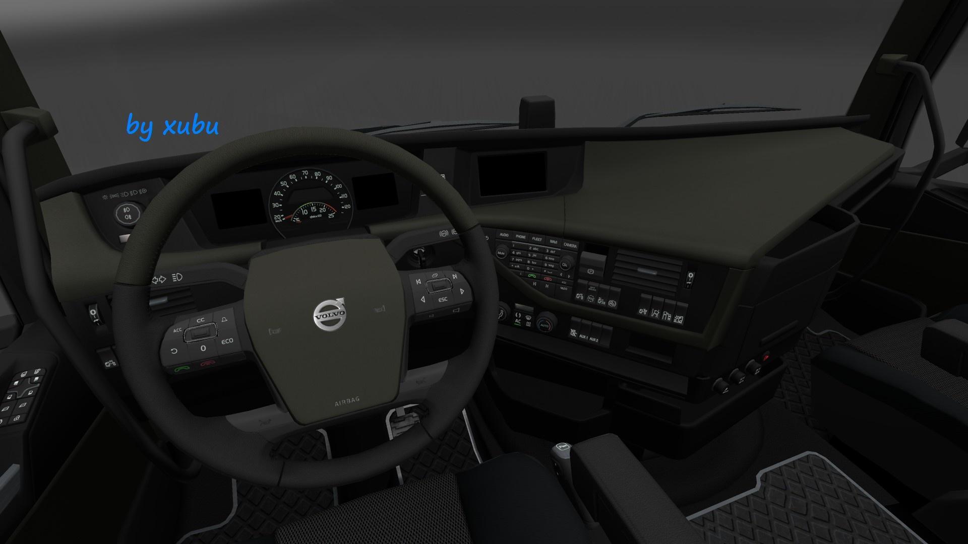 VOLVO FH 16 2012 OLIVE V1.0 Interior -Euro Truck Simulator 2 Mods