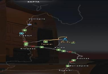 BALTICS COUNTRY MAP BETA VERSION V For ETS Euro Truck - Argentina map ets2