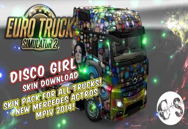 DISCO GIRL SKIN PACK FOR ALL TRUCKS ETS2 - Euro Truck