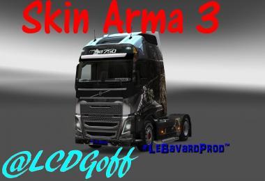 SKIN ARMA3 VOLVO FH2012 BY LEBAVARD for ETS2 -Euro Truck Simulator 2