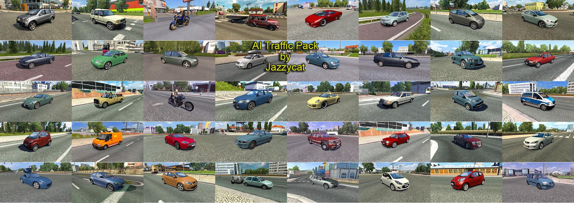 AI TRAFFIC PACK BY JAZZYCAT V3 2 ETS 2 -Euro Truck Simulator