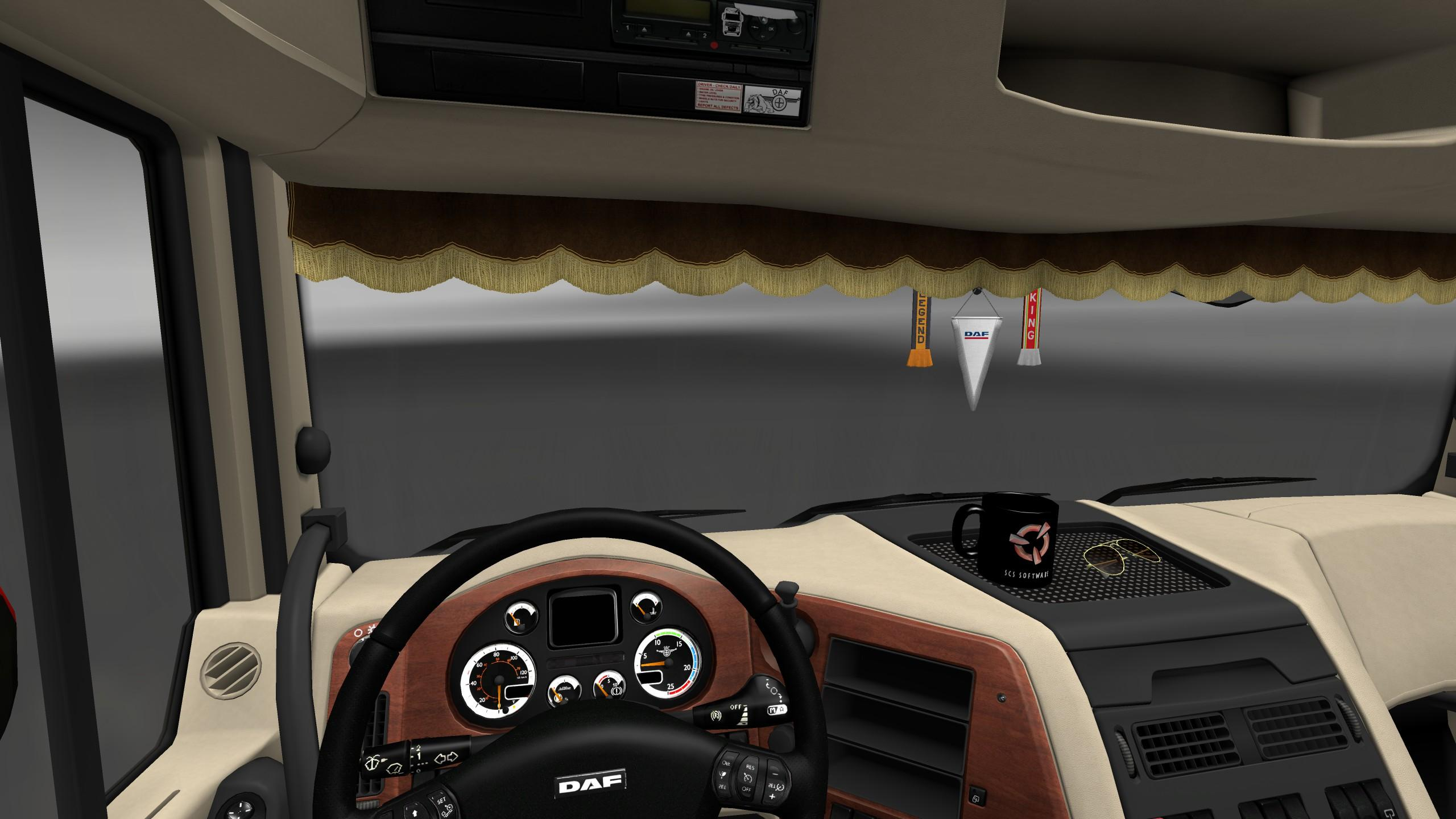 Parts For Cars >> DAF XF 105 INTERIOR REWORK Mod -Euro Truck Simulator 2 Mods