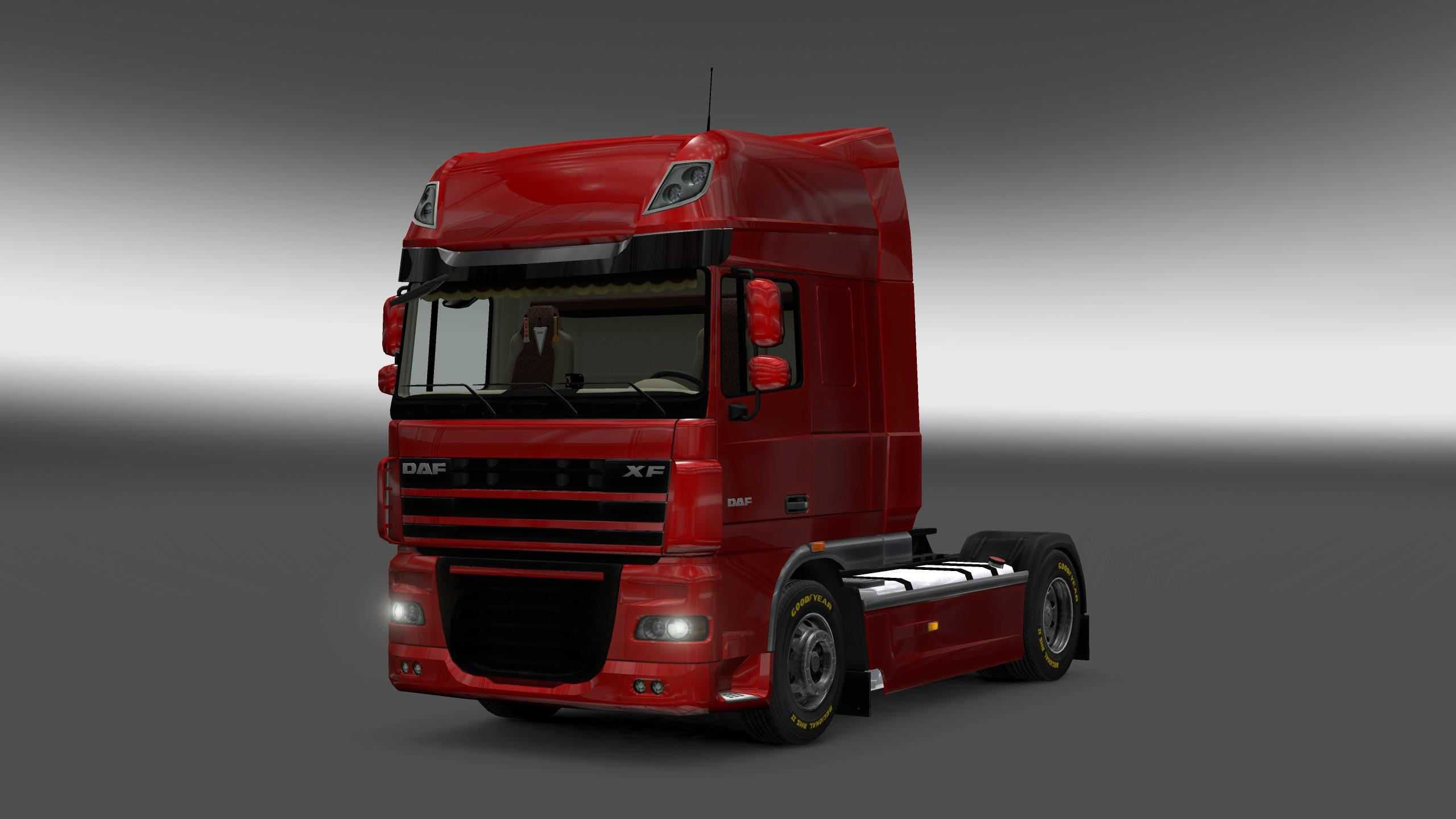 daf xf 105 interior rework mod euro truck simulator 2 mods. Black Bedroom Furniture Sets. Home Design Ideas