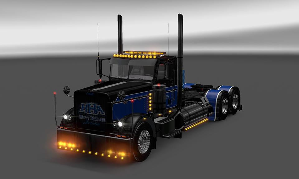 HHA SKIN1 VIPER2 MODIFIED 389 Mod -Euro Truck Simulator 2 Mods