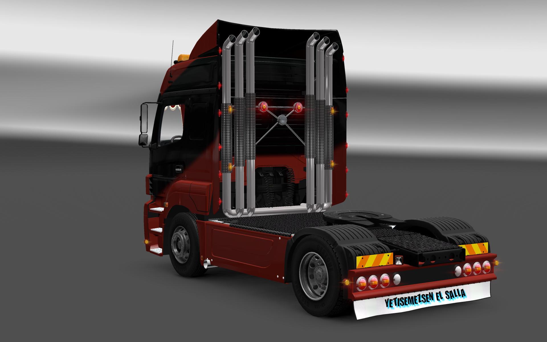 highpipe for trucks update v5 3 mod euro truck simulator. Black Bedroom Furniture Sets. Home Design Ideas