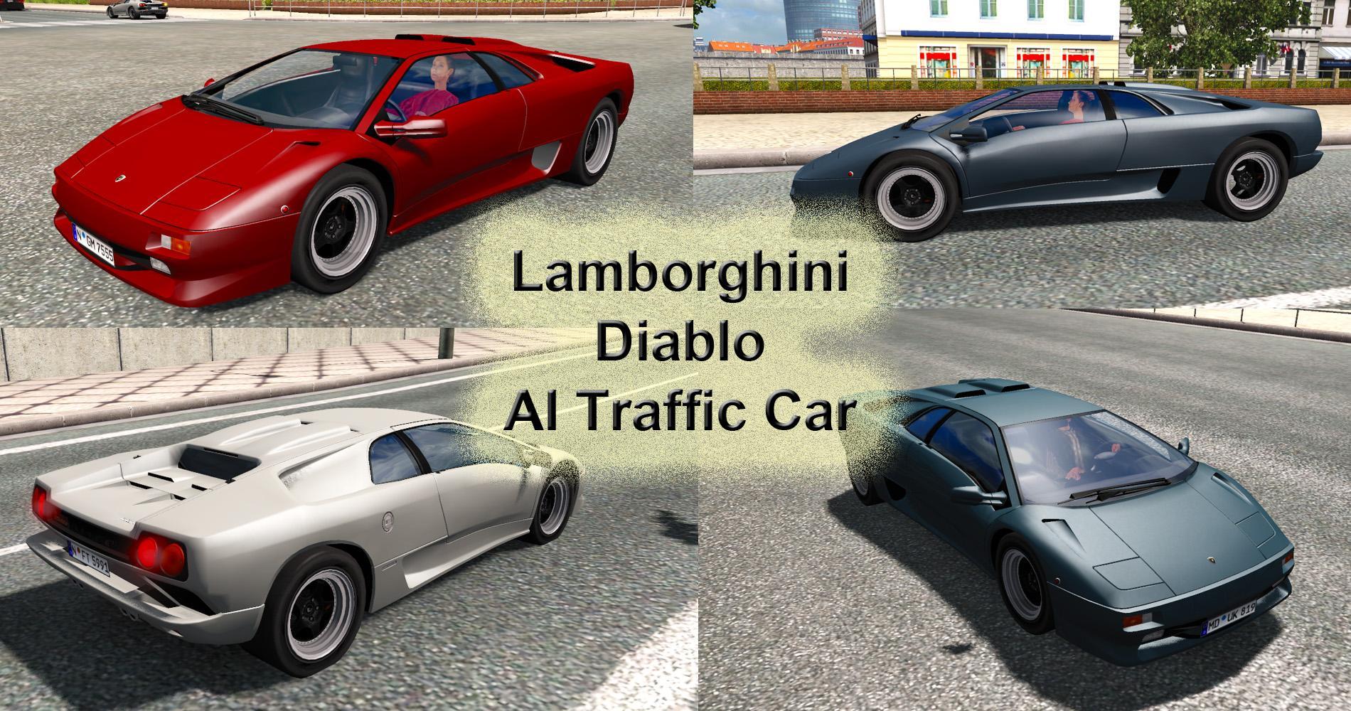 LAMBORGHINI DIABLO AI TRAFFIC CAR ETS 2 -Euro Truck