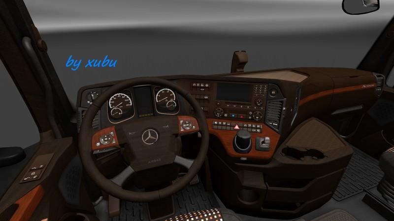 mercedes 2014 wood v1 0 interior euro truck simulator 2 mods. Black Bedroom Furniture Sets. Home Design Ideas