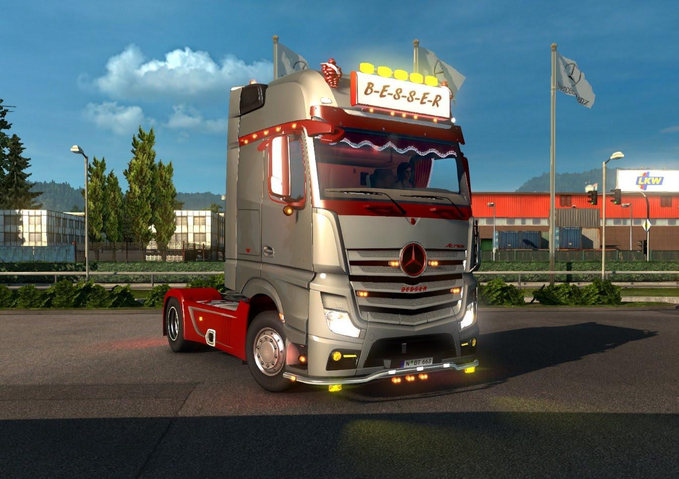 mercedes actros mp4 mod euro truck simulator 2 mods. Black Bedroom Furniture Sets. Home Design Ideas