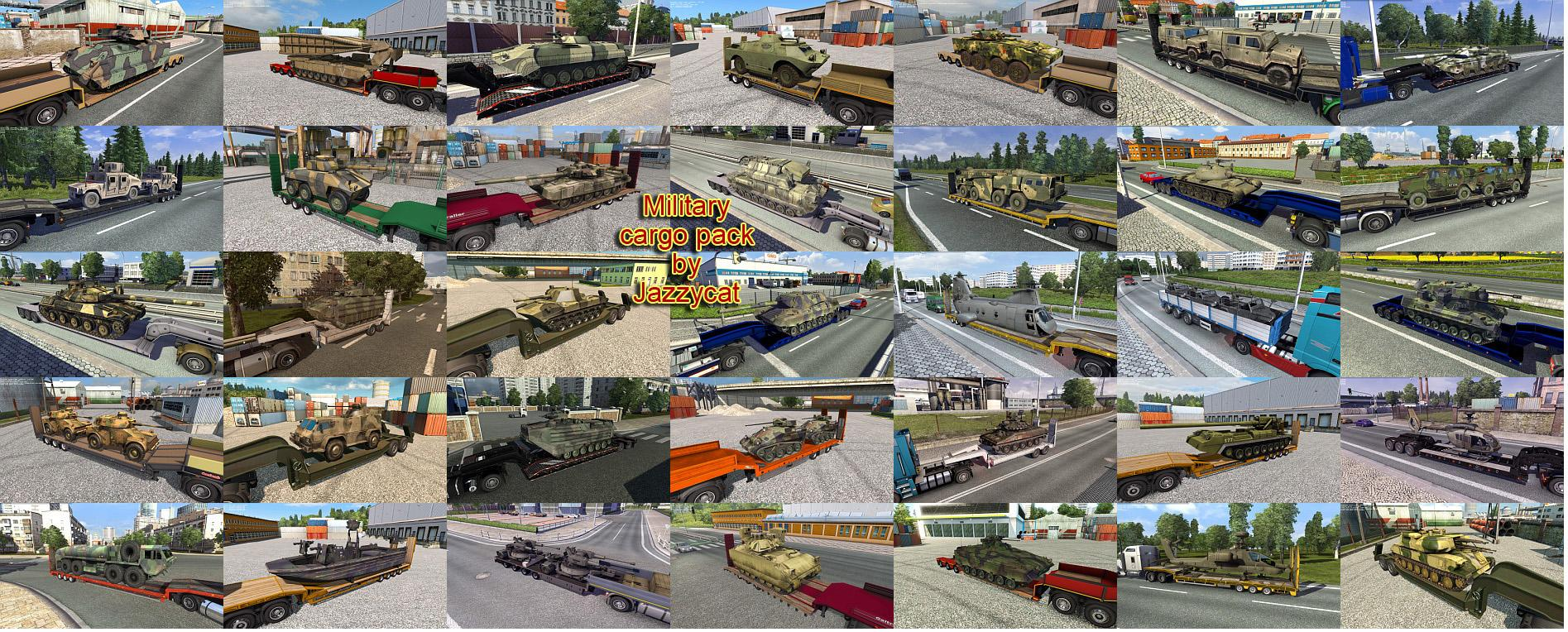 Military Cargo Pack By Jazzycat V1 7 Ets2 Euro Truck