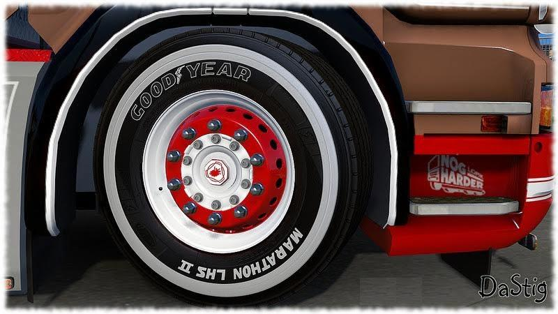 White Tire Paint >> PAINTED GOODYEAR TIRES BY DASTIG Mod -Euro Truck Simulator 2 Mods