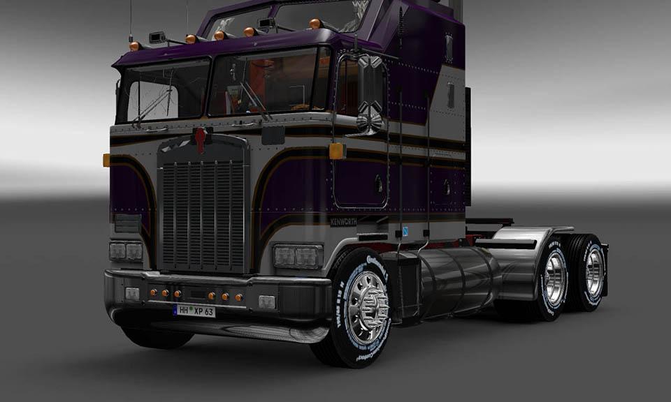What Is My Truck Worth >> PURPLE AND WHITE KENWORTH K100 6X4 + 4X2 V5.0 Skin -Euro Truck Simulator 2 Mods