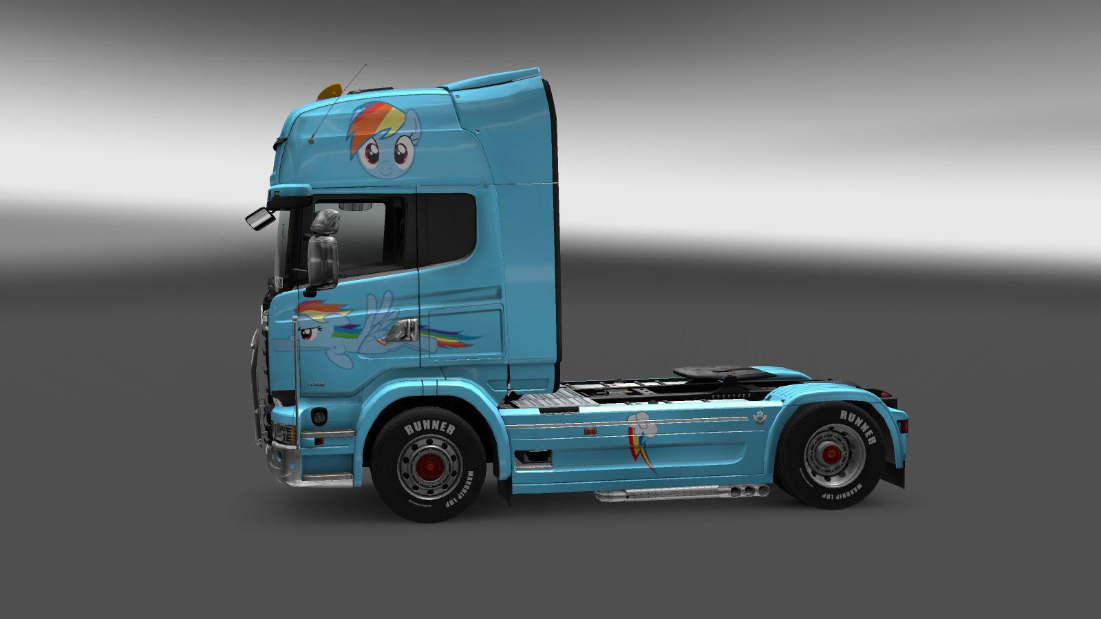 Rainbow dash paint job for scania streamline skin euro for Car paint simulator