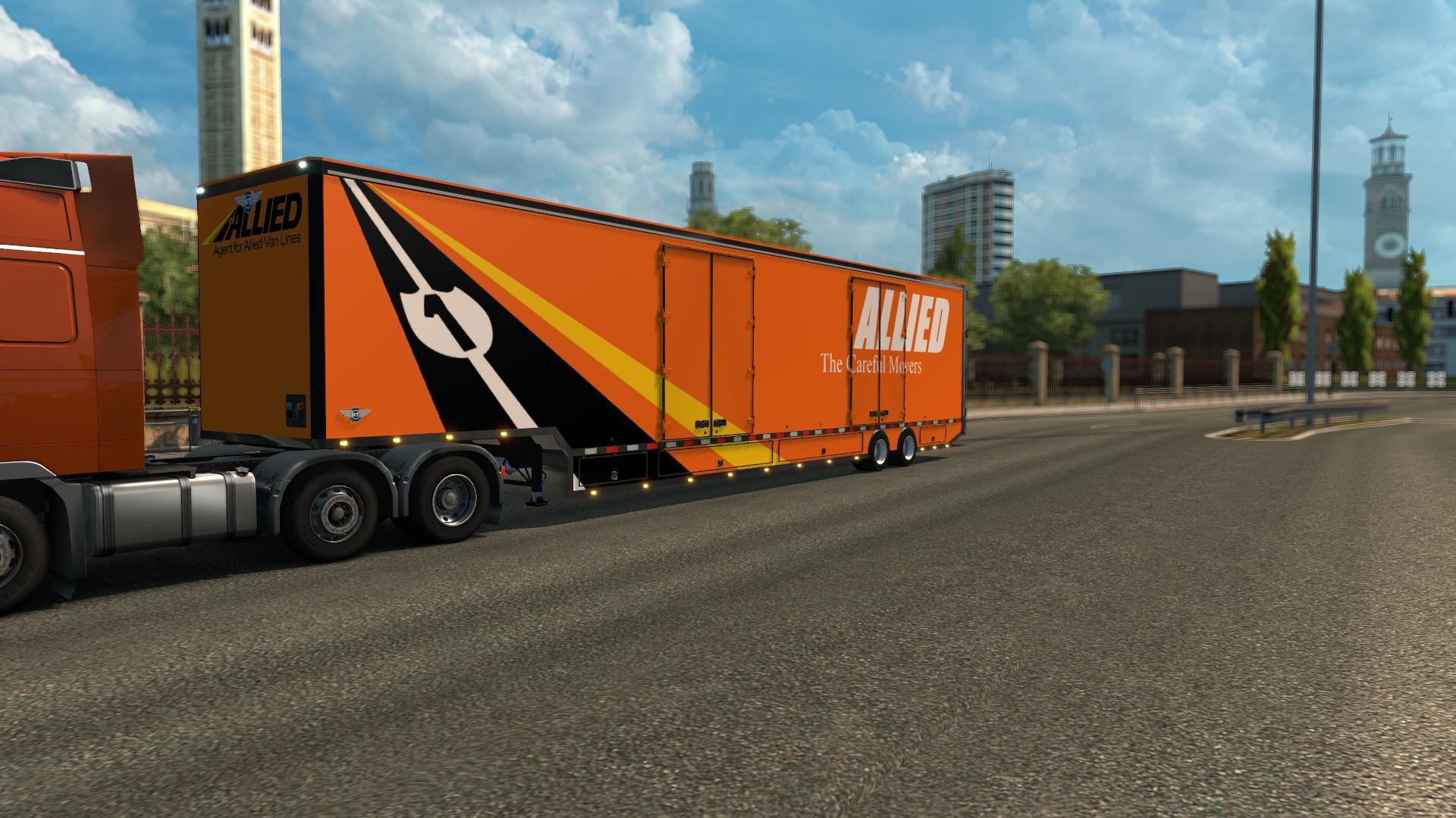 RD MOVING VAN V1 0 ETS 2 -Euro Truck Simulator 2 Mods