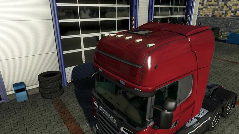 Rooflights V0 2 For Scania R Amp Streamline For Ets 2 Euro