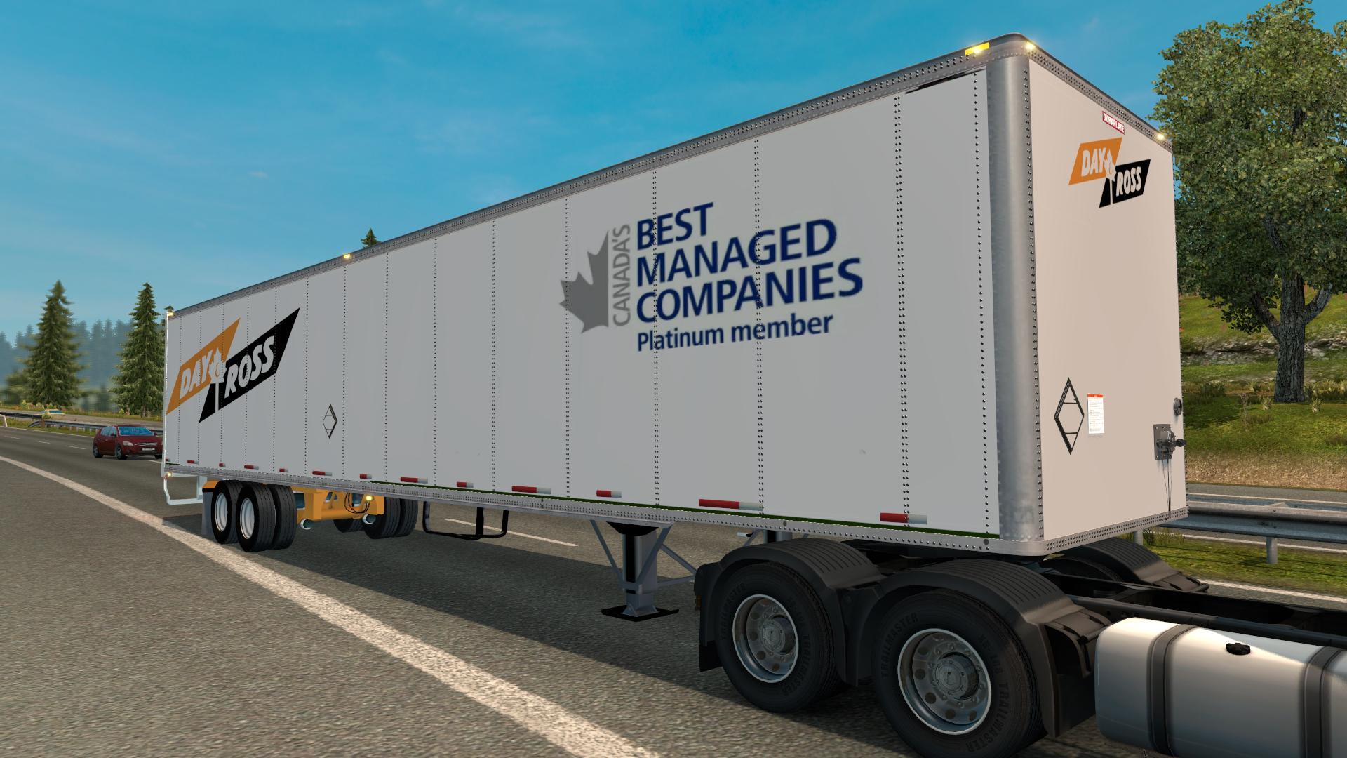 Wabash Duraplate Dryvan Trailer Euro Truck Simulator 2 Mods