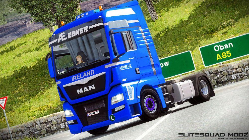 How to install ats mods mod for american truck simulator ats - A Ebner Transporte Man Tgx Euro 6 Truck Skin Euro Truck