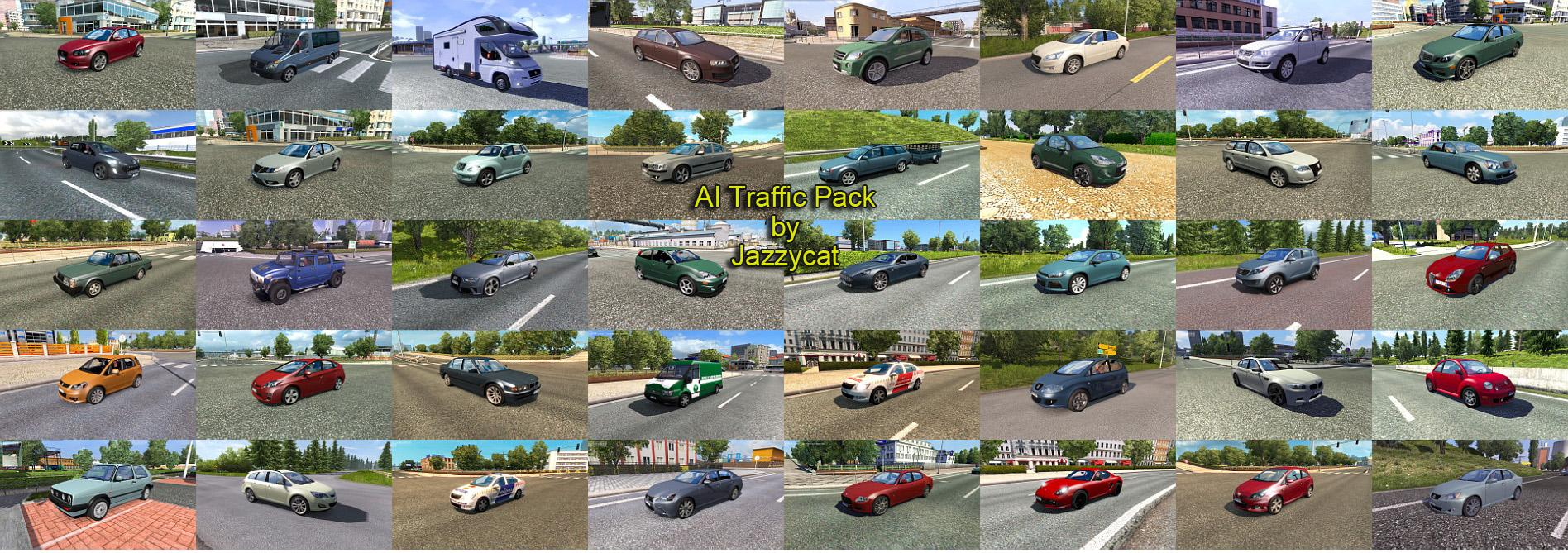 AI TRAFFIC PACK BY JAZZYCAT V3 3 For ETS2 -Euro Truck