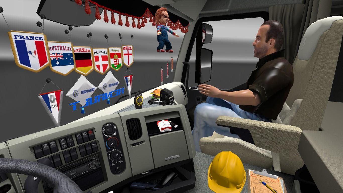 Dlc cabin accessories pack v1 5 ets2 euro truck for Interieur accessoires
