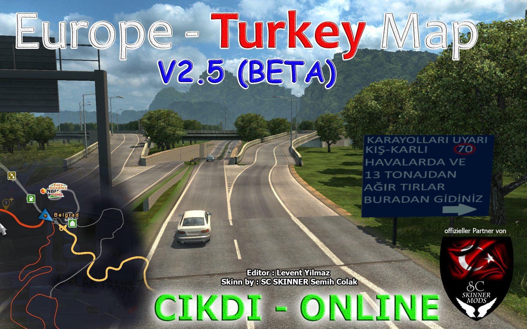 EUROPE & TURKEY MAP V2 5 Mod -Euro Truck Simulator 2 Mods