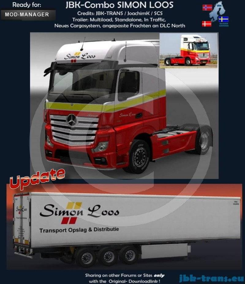 JBK- COMBO SIMON LOOS Skin -Euro Truck Simulator 2 Mods