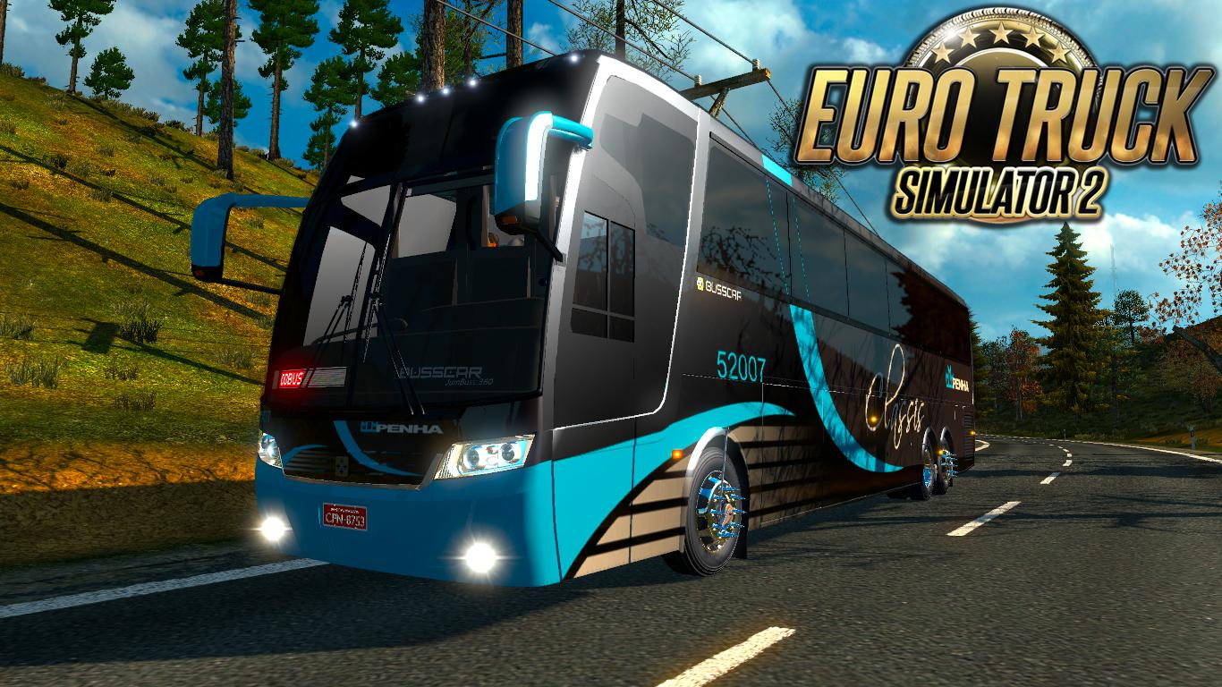jumbuss bus 360 mod euro truck simulator 2 mods. Black Bedroom Furniture Sets. Home Design Ideas