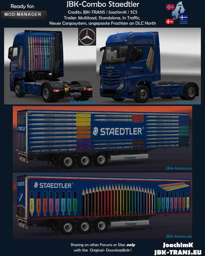 JBK-COMBO STAEDTLER V1 ETS2 -Euro Truck Simulator 2 Mods
